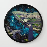 river Wall Clocks featuring River by Cs025