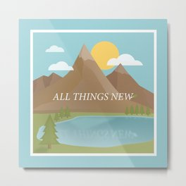 All Things New - blue (version 2) Metal Print