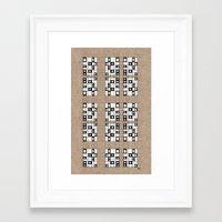 quilt Framed Art Prints featuring Quilt by Finn Wild
