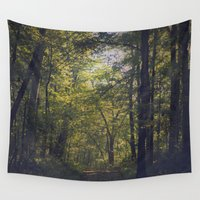 indiana Wall Tapestries featuring Hayes Arboretum in Indiana by Amy J Smith Photography