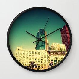 Chicago Retro Skyline ~ architecture Wall Clock