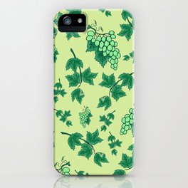Seamless background from bunches of grapes iPhone Case
