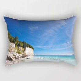 Chalk cliffs on the island Ruegen Rectangular Pillow