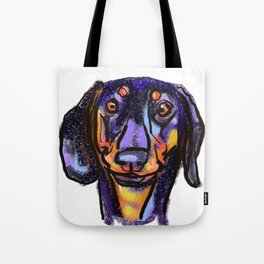 The happy Doxie Love of My Life Tote Bag