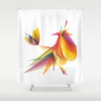 my little pony Shower Curtains featuring My little pony by Mari Biro