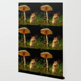 Under The Shady Mushroom Wallpaper