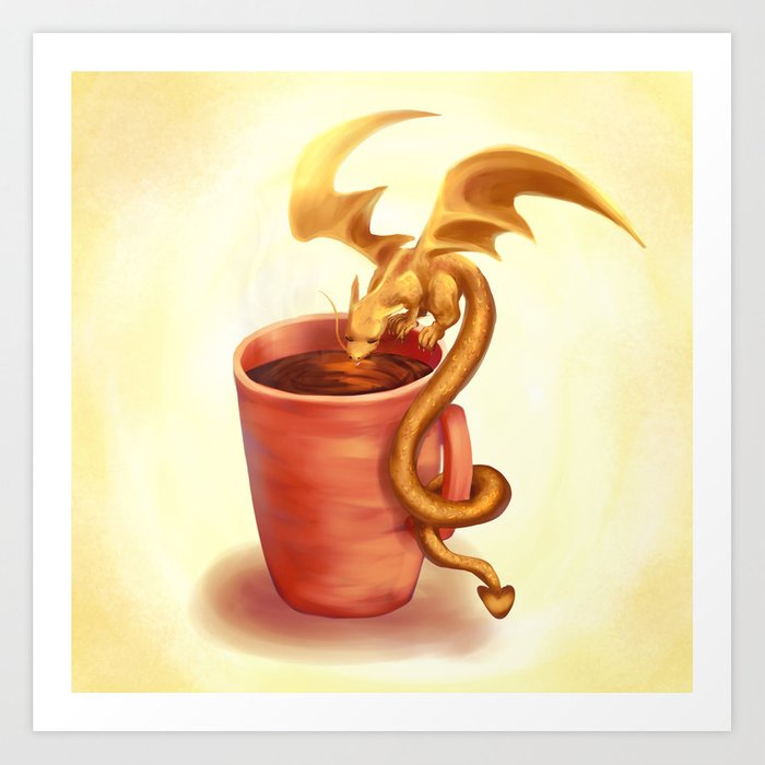A drink for a dragon Art Print
