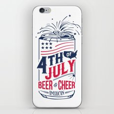 Typography Beer - Fourth of July iPhone & iPod Skin