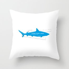 Main Theme from Jaws Throw Pillow