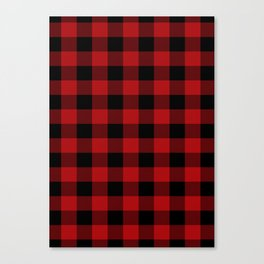 Red & Black Buffalo Plaid Canvas Print