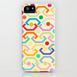 Ethnic Pattern (by day) iPhone Case