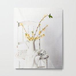 Forsythia Chair 2 Metal Print