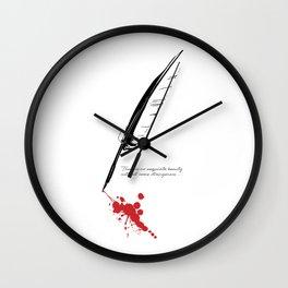 Edgar Allan Poe - Strangeness Wall Clock