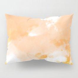 Orange and Gold Watercolor Tie Dye Design Pillow Sham