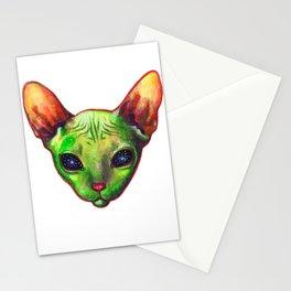 Alien sphynx cat Stationery Cards