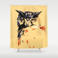 owl Shower Curtains featuring Owl by Nuam