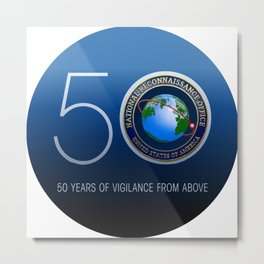 The NRO's 50th Annivesary Logo Metal Print