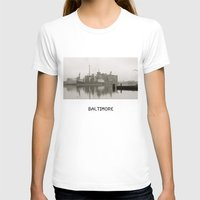 baltimore T-shirts featuring baltimore harbor by Art by Ash