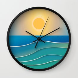 The sun comes and goes but the waves remain Wall Clock