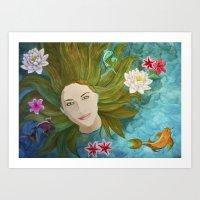 koi fish swim Art Print