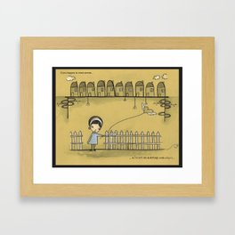 if you happen to come across a heart on a string Framed Art Print