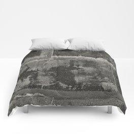 Rusted Metal Plates - B&W Comforters