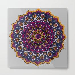 Drei Mandala Metal Print