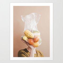 Produce Portrait Art Print