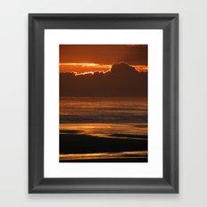 Sunset at the Beach Framed Art Print