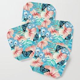 Tropical Spring Aqua Coaster