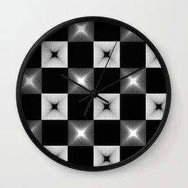 Black And White Illusion Pattern Wall Clock