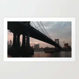Manhatten Bridge Art Print