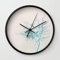 breathe Wall Clocks featuring Breathe by Claudia Drossert