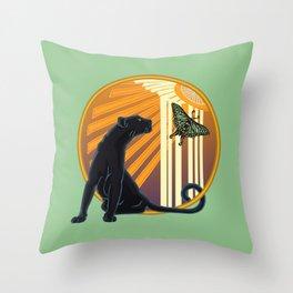Jaguar Plain Art Deco Throw Pillow
