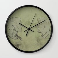 true detective Wall Clocks featuring TRUE DETECTIVE by Tomcert