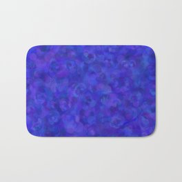 Royal Blue Floral Abstract Bath Mat