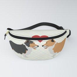 Pembroke Welsh Corgi Dogs Art - two corgis in love Fanny Pack