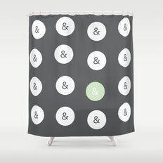 spot color ampersand Shower Curtain