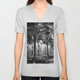 Vintage Palms Trees : Coachela Valley California 1937 Unisex V-Neck