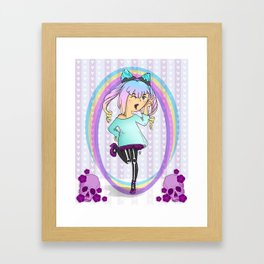 Girl Pastel Goth Framed Art Print