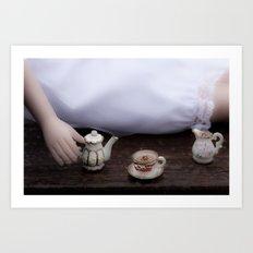 Alice's Escapades ~ Alice & The Tea Party Art Print