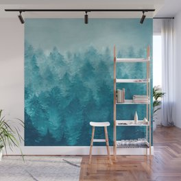 Misty Pine Forest 2 Wall Mural