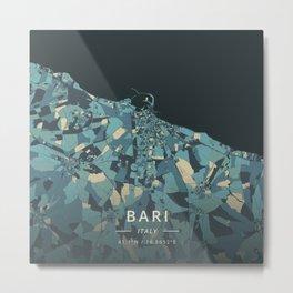 Bari, Italy - Cream Blue Metal Print