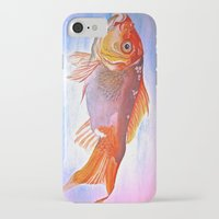 goldfish iPhone & iPod Cases featuring Goldfish by Jaime Viens