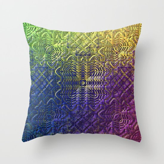 Throw Pillows Textured : Textured Ombre Throw Pillow by Lyle Hatch Society6
