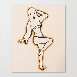 Lady Ghost With Underboob Canvas Print