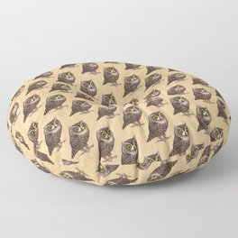 Otus scops on wood Floor Pillow