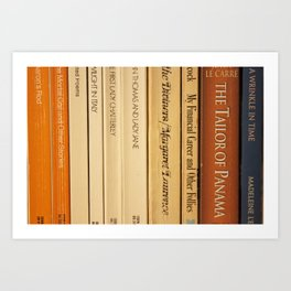 Book Spines Art Print