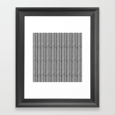 Herringbone Black Framed Art Print