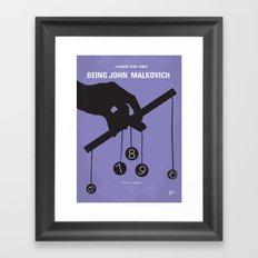 No009 My Being John Malkovich minimal movie poster Framed Art Print